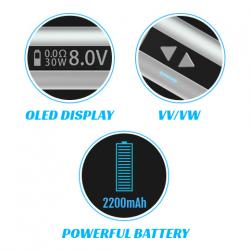 iStick 30W Sub Ohm Box Mod Kit (Silver) image 5