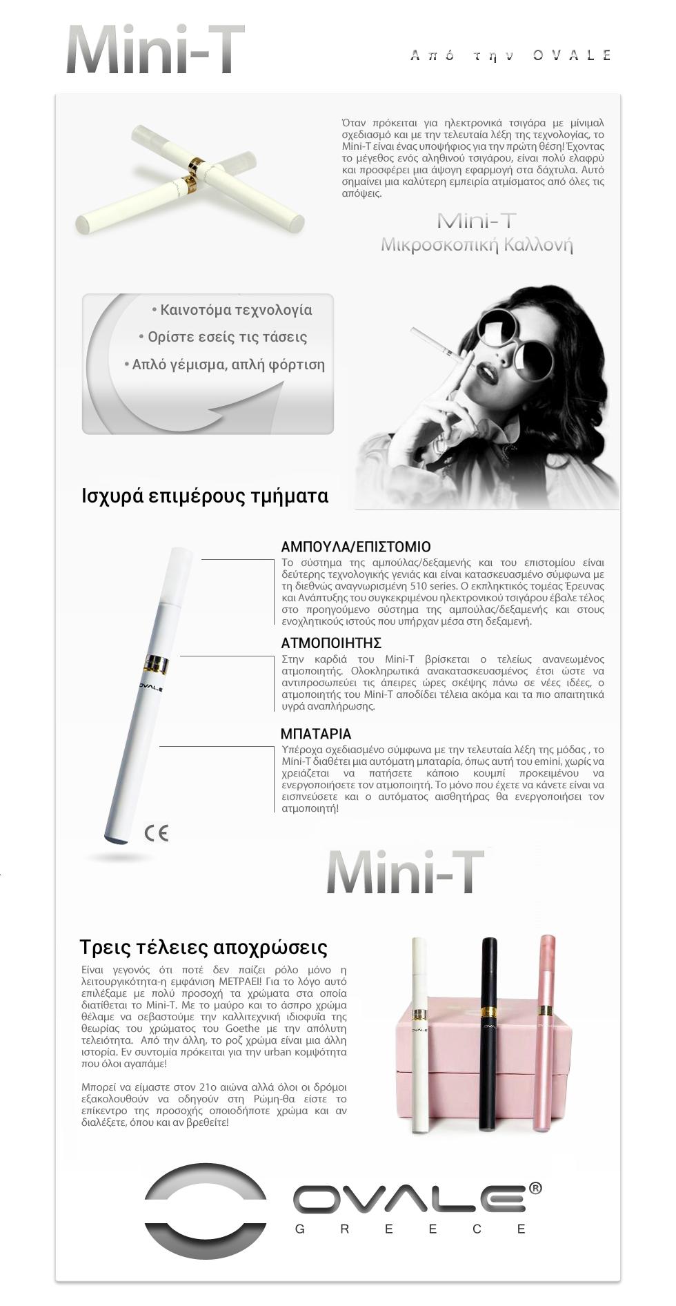 ηλεκτρονικό τσιγάρο, υγρό αναπλήρωσης ηλεκτρονικού τσιγάρου, κόψιμο καπνίσματος, ovale, joyetech, mini