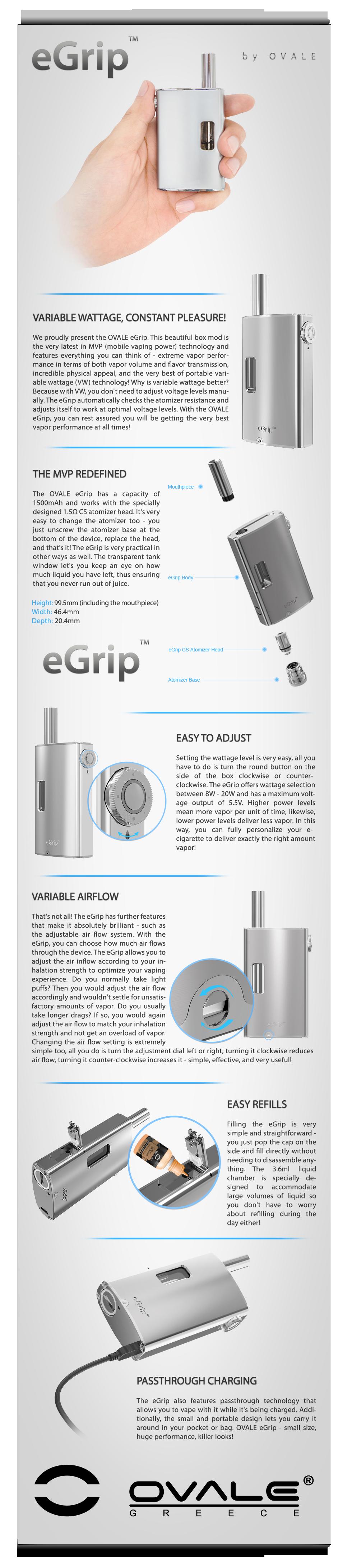 ηλεκτρονικό τσιγάρο, υγρό αναπλήρωσης ηλεκτρονικού τσιγάρου, κόψιμο καπνίσματος, ovale, joyetech, egrip