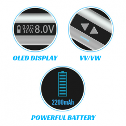 iStick 30W Sub Ohm Box Mod Kit (Black) image 7