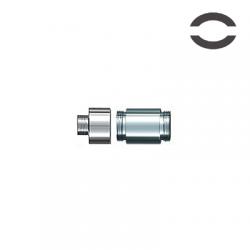emini Duo Atomizer Base & Cone (Silver) image 1